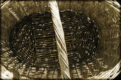 Closeup willow woven basket Royalty Free Stock Images