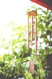 Closeup of Wind Chime. Decorated of home Stock Photography