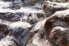 Closeup of a wind-polished rock in Hainan island Royalty Free Stock Photography