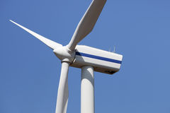 Closeup of wind turbine propeller Stock Photos