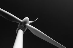 Closeup of a windmill. Black and white photo Stock Photos