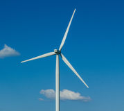 Closeup of Windmill Turbine and Blades Stock Photography
