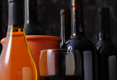 Closeup Wine Bottle Still life Royalty Free Stock Photos