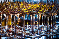 Closeup of a wineglasses Stock Photo