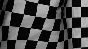 Closeup of the Winner Checkered Flag stock footage