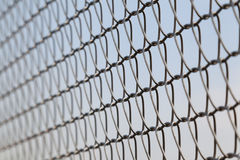 Closeup of wire mesh fence Stock Images