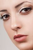Closeup woman beautiful face Royalty Free Stock Images