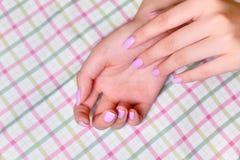 Closeup woman beautiful fingers Royalty Free Stock Photos
