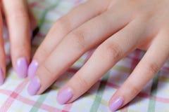 Closeup woman beautiful fingers Royalty Free Stock Image