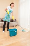 Closeup of woman doing housework and cleaning. Stock Photo