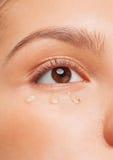 Closeup of woman eye Stock Photo