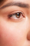 Closeup of woman eye Royalty Free Stock Images