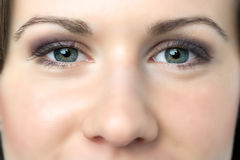 Closeup woman eyes Royalty Free Stock Photography