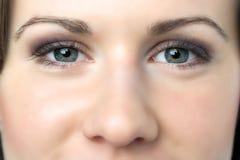 Closeup woman eyes Royalty Free Stock Photography