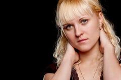 Closeup woman face Royalty Free Stock Image