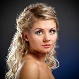 Closeup woman face Stock Photography