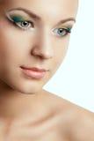 Closeup woman face with creative makeup Stock Image