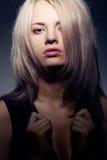 Closeup woman face portrait Stock Photos