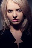 Closeup woman face portrait Stock Images
