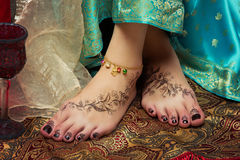 Closeup of woman feet Stock Photo