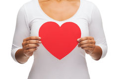 Closeup of woman hands with heart. Love and relationships concept - closeup of woman hands with heart Stock Photography