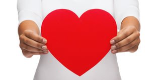 Closeup of woman hands with heart. Love and relationships concept - closeup of woman hands with heart Stock Photos