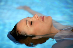 Closeup of woman in pool Royalty Free Stock Photo