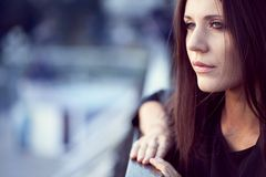 Closeup woman portrait Stock Photo