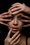 Closeup woman portrait Stock Image