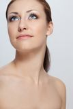 Closeup woman portrait with perfect skin Royalty Free Stock Images