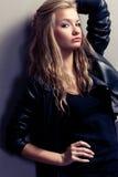 Closeup woman portrait, rock style Stock Image