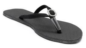Closeup of woman sandal. Over white background Stock Photos
