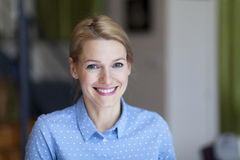 Closeup Of A Woman Smiling Royalty Free Stock Photo