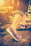 Closeup of woman walking exercise, health concept, outdoors. Vin Stock Images