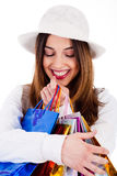 Closeup of women holding her shopping bags Stock Image