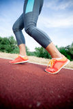 Closeup of A Women's Running Shoe Stock Images