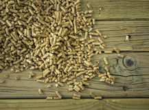 Closeup of  wood pellets Stock Image