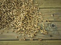 Closeup of  wood pellets Stock Image