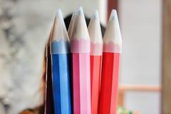Closeup wood pencils. Stock Photography