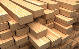 Closeup wooden boards. Illustration about construction materials Stock Photos