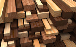 Closeup wooden boards. Illustration about construction materials Royalty Free Stock Photo