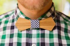 Closeup wooden bowtie Stock Photos