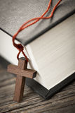 Cross and Bible Royalty Free Stock Image
