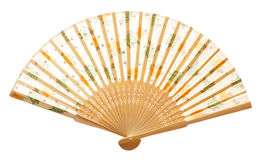 Closeup of wooden fan Stock Photography