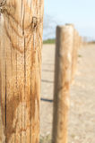 Closeup of wooden fence Stock Images