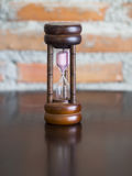 Closeup wooden hourglass Royalty Free Stock Photos
