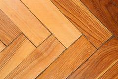 Closeup of wooden parquet floor. Stock Photo