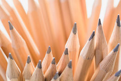 Closeup wooden pencils. Business concept Royalty Free Stock Photos