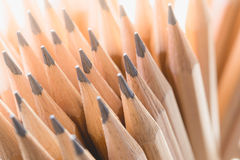 Closeup wooden pencils. Business concept Stock Image