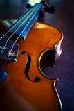 Closeup wooden violin,vintage color Royalty Free Stock Photo